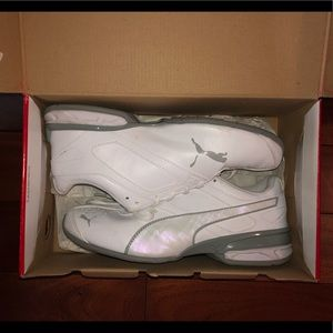 PUMA Women's all white shoes